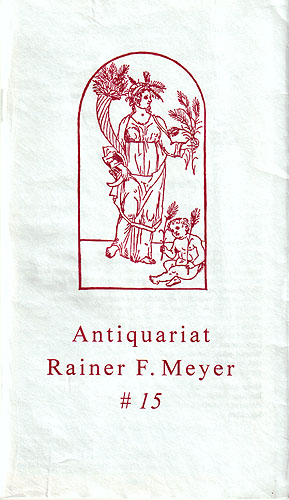 Katalog Nr. 15 Antiquariat Rainer Friedrich Meyer
