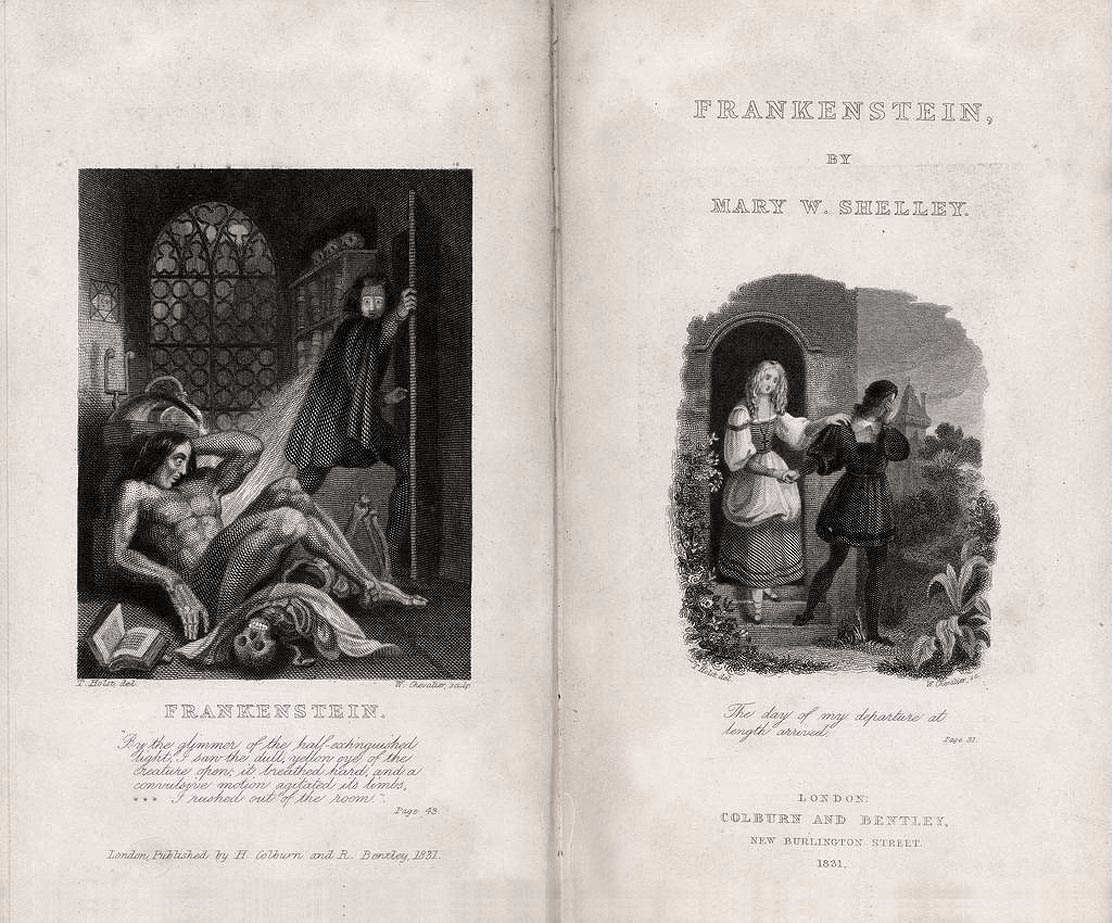 Mary Shelley: Frankenstein. London: Colburn and Bentley, 1831