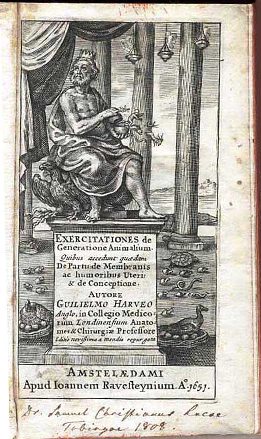 William Harvey: Exercitationes de Generatione Animalium, 1651