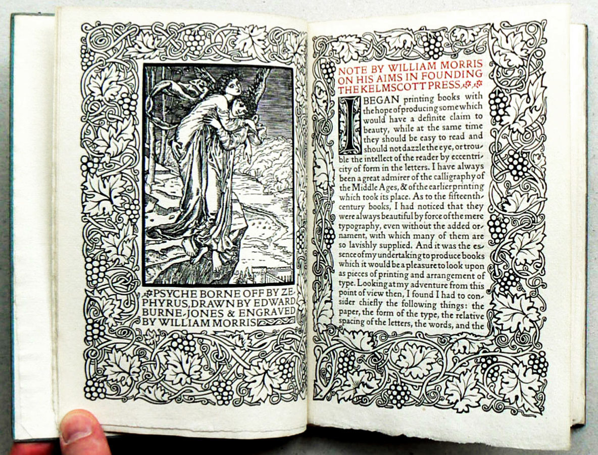 William Morris and Sidney C. Cockerell: A Note by W. M. on His Aims in Founding the Kelmscott Press